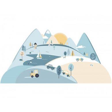 Pastelowelove - Naklejka na Ścianę Góry Błękitne L 180x90 cm