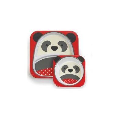 Skip Hop - Zestaw Talerz + Miseczka Panda