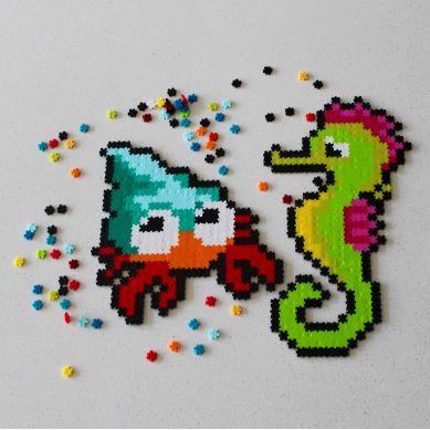 Fat Brain Toys - Puzzelki Pixelki Jixelz Zwierzęta Morskie 700 Elementów