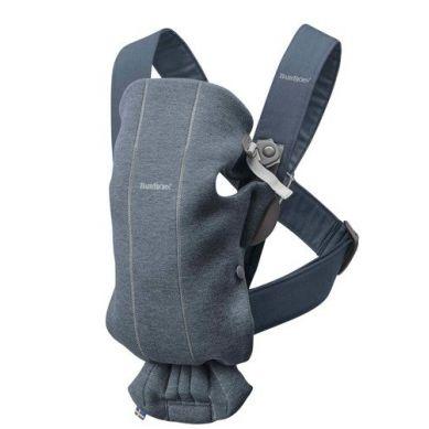 BabyBjorn - Nosidełko Mini 3D Jersey Niebieski