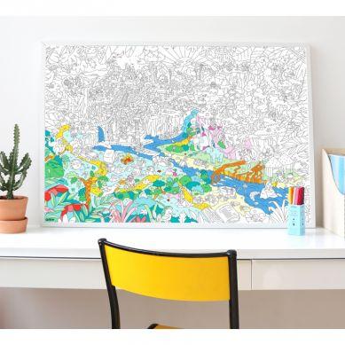 Omy - Kolorowanka Dżungla 100x70cm