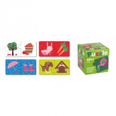 Apli Kids - Puzzle Dwuczęściowe Skojarzenia 3+