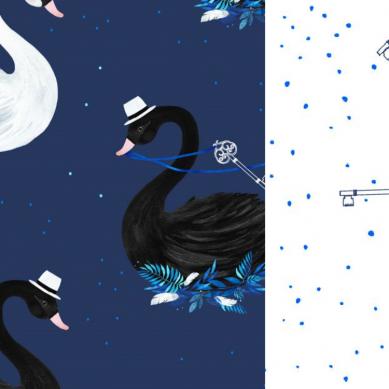 La Millou - Ochraniacz do Łóżeczka Magic Swan & Magic Swan Lake