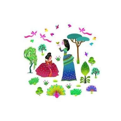 Djeco - Naklejki Dekoracyjne Ogród Księżniczek
