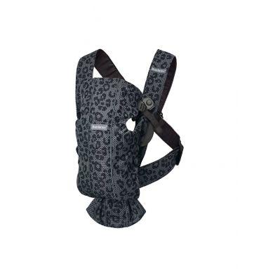 BabyBjorn - Leżaczek Bliss Mesh Antracytowy/Leopard + Mini 3D Mesh Nosidełko Antracytowy/Leopard