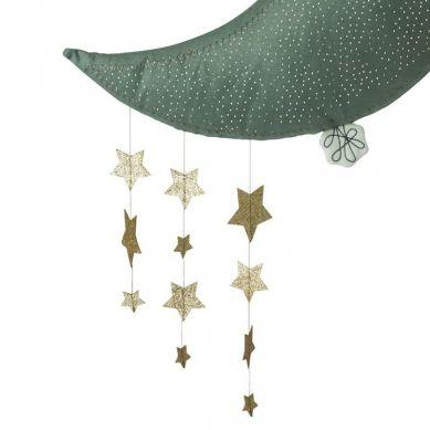 Picca LouLou - Dekoracja Ścienna Sparkle Moon Grey with Stars 45 cm