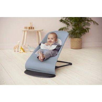 BabyBjorn - Leżaczek Balance Soft Cotton Jersey Niebieski/Szary