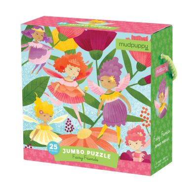 Mudpuppy - Puzzle Podłogowe Jumbo Wróżki 25 elementów