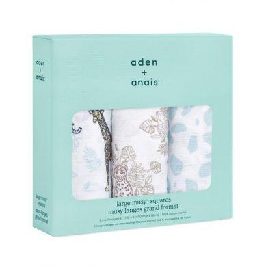 aden + anais - Pieluszka Muślinowa Musy Jungle 3 szt 70x70cm