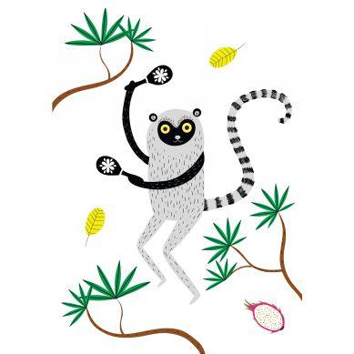 Maki Mon Ami - Plakat Lemur Leon (A4)