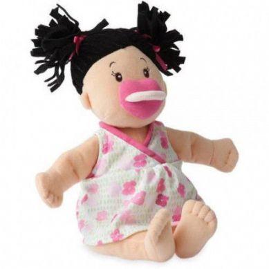 Manhattan Toy - Pluszowa Lalka Brunetka z Różowym Smoczkiem