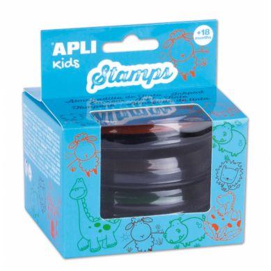 Apli Kids - Zestaw Tuszy do Stempli Zielony/Pomarańczowy/ Brązowy