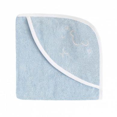 Effii - Ręcznik z Kapturkiem Owieczka Niebieski 95x95 cm