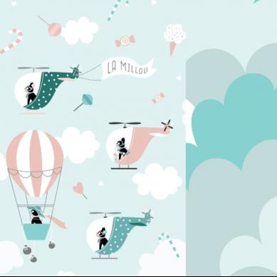 La Millou - Ochraniacz do Łóżeczka Miss Cloudy & Cloudy Sky