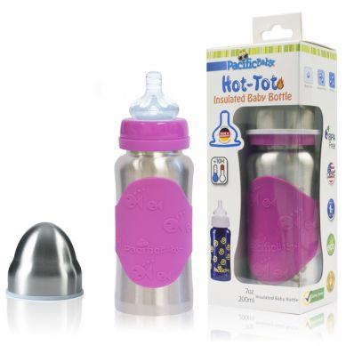 Pacificbaby - Butelka ze Smoczkiem Różowa 200 ml 3w1