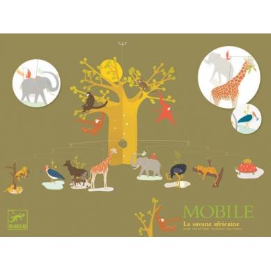 Djeco - Mobile Zwierzęta Savanny