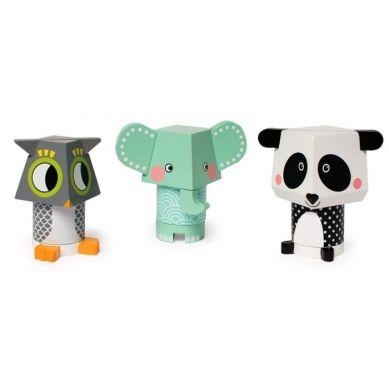 Manhattan Toy - Układanka/klocki Magnetyczne Zwierzęta