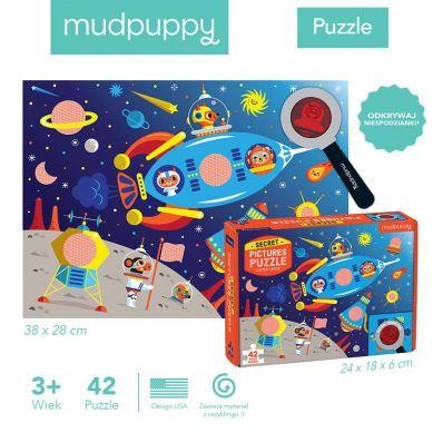 Mudpuppy - Puzzle z Ukytymi Obrazkami Kosmos 42el 3+