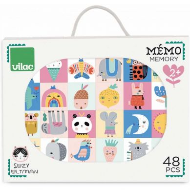 Vilac - Gra Memo Drewniana 48 el. dla Dzieci 2+ by Suzy Ultman