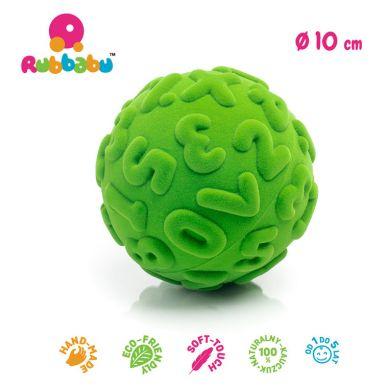 Rubbabu - Piłka Edukacyjna Sensoryczna Cyfry Zielona