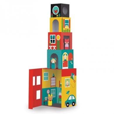 Petit Collage Kostki do Układania Domek