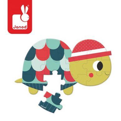 Janod - Mini Puzzle Baby Forest Żółw