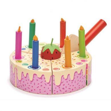 Tender Leaf Toys - Drewniany Tort Urodzinowy Tęczowy 3+