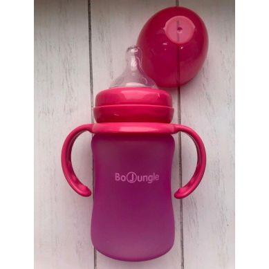 Bo Jungle - B-Thermo Butelka 150ml Szkło/Silikon Róż