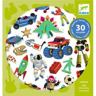 Djeco - Naklejki Wypukłe Zabawki Retro