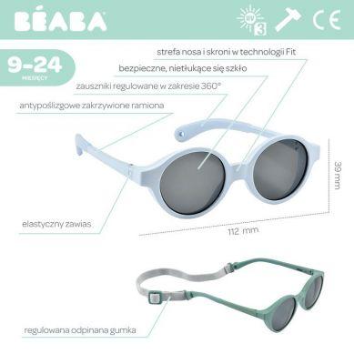 Beaba - Okulary Przeciwsłoneczne dla Dzieci 9-24 Miesięcy Pearl Blue