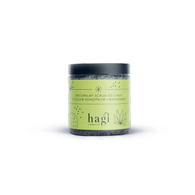 Hagi - Naturalny Scrub do Ciała z Olejem Konopnym i Makadamia