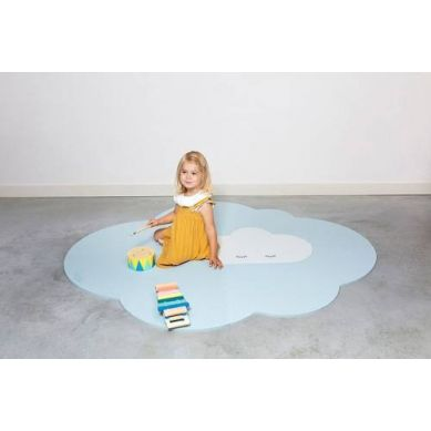 Quut - Mata do Zabawy Piankowa Podłogowa Duża Chmurka Playmat Dusty Blue