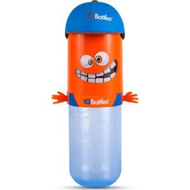 IQBottles - Bidon Butelka 2w1 Orange/Clue Cap
