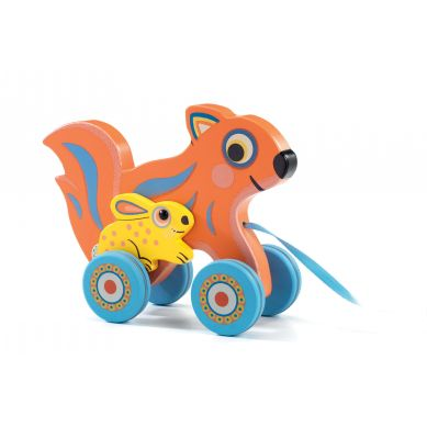 Djeco - Drewniana Zabawka do Ciągnięcia Max & Ola