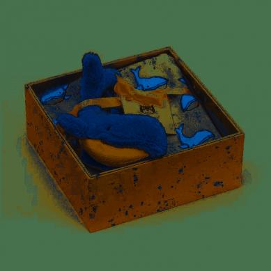 Jellycat - Prezentowy Zestaw z Muślinową Pieluszką - Wieloryb 0m+