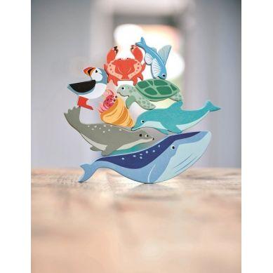 Tender Leaf Toys - Drewniane Figurki do Zabawy Zwierzęta Morskie 3+