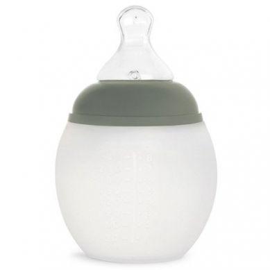Elhee - Miękka Butelka Antykolkowa Kaki Green 240ml + Smoczek 0-3m Medium Flow