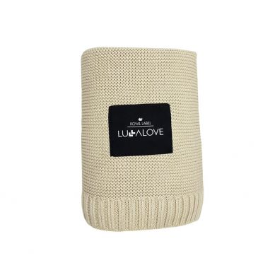 Lullalove - Duży Bambusowy Koc 100x120cm Coffee