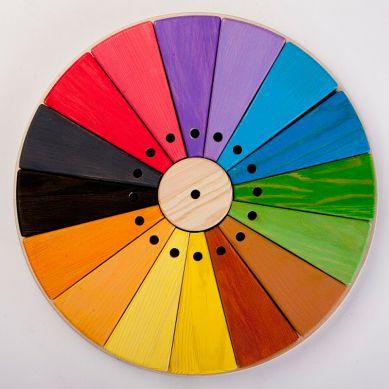 Organic Woodboon - Wieża Paleta Barw Puzzle Układanka Edukacyjna