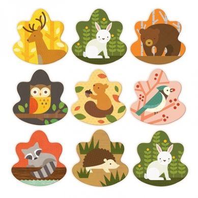 Petit Collage - Gra Memory Zwierzęta Leśne
