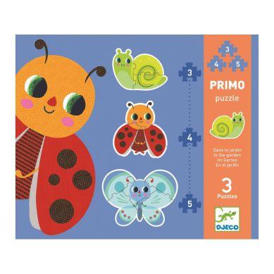 Djeco - Puzzle 3 Plansze 3,4, 5el. Ogród