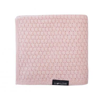 Lullalove - Kocyk/Otulacz Merino Premium Pudrowy Róż