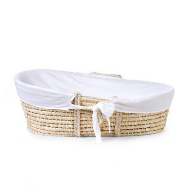 Childhome - Kosz Mojżesza Basic z Materacykiem + Pokrowiec Jersey Off White