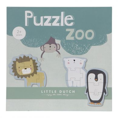 Little Dutch - Puzzle 6 Elementów Zoo