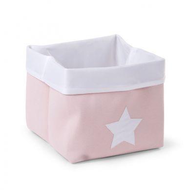 Childhome - Pudełko na Zabawki Płócienne 32x32x29 Różowy