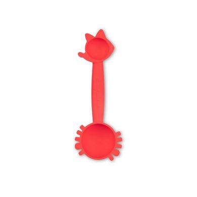 Lilliputiens - Silikonowa Łyżeczka Z Miarką 2w1 Mały Kucharz Lemur George 4+