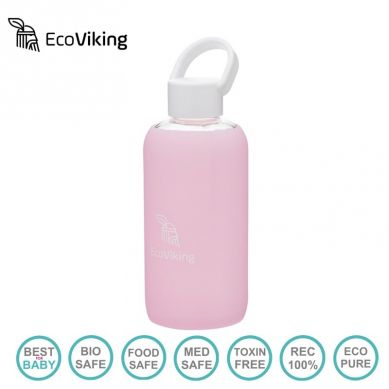 Eco Viking - Pure Water Lavender Szklana Butelka Nawadniająca dla Mam