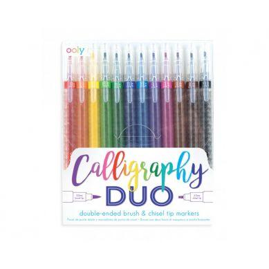 Ooly - Flamastry z Dwiema Końcówkami Calligraphy Duo 6+