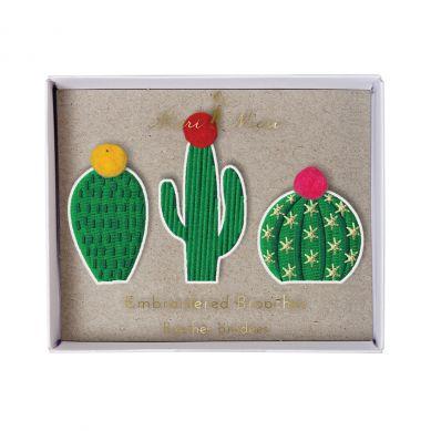 Meri Meri - Zestaw Przypinek Cactus