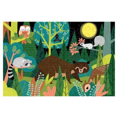 Mudpuppy - Puzzle Świecące w Ciemności w Lesie 100 Elementów